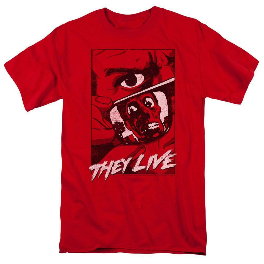 They Live t-shirt Roddy Piper Retro 80s horror sci-fi graphic red tee UNI968