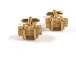 1960's Gold Tone  Cufflinks by HICKOK U.S.A.12415 - $20.69