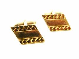1960's - 80's True Vintage Goldtone 10K RGP Cufflinks by Hadley USA 101014 - $24.99