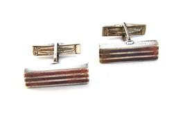 Vintage Retro Sterling Silver & Copper Cufflinks 03132013def - $84.99
