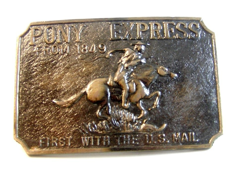 Vintage Pony Express First With The U.S. Mail Buckle - $14.99