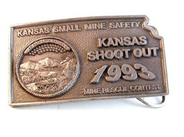 1993 Kansas Small Mine Safety Shoot Out Belt Buckle - $40.49