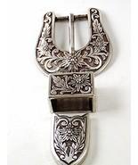 2007 Western Silver Tone Ranger Style Belt Buck... - $15.29