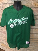Rare Green Associated Bank Milwaukee Brewers Baseball Jersey. MLB. Sz Large. - $38.55
