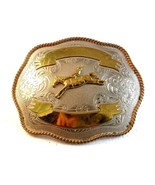 Vintage Silver & Gold Tone Broncho Riding Cowbo... - $67.49