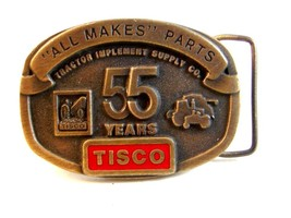 51Years Tisco Tractor Implement Supply Co. Brass Belt Buckle - $24.99