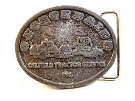 Vintage 1970 - 80's George Baize Oilfield Tractor Service Belt Buckle - $44.99