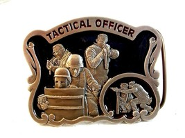 1997 Tactical Officer Enameled Belt Buckle Made in U.S.A. - $44.99