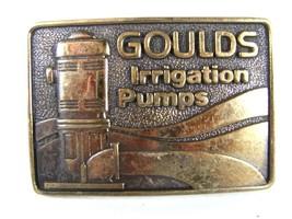 1979 Goulds Irrigation Pumps Solid Brass Belt Buckle By BTS 81016 - $44.99