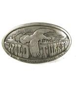 1974 Wild Turkey Whiskey Brass Belt Buckle by AUSTIN NICHOLS 81116 - $22.99