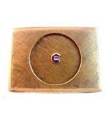 Vintage Gold Tone Fraternal Enameled Belt Buckle - $58.49