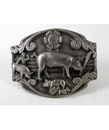 1989 Swine Pig Belt Buckle By ARROYO GRANDE 111016 - $22.49