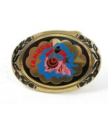 Vintage Samurai Enameled Belt Buckle By KPI BUC... - $22.49