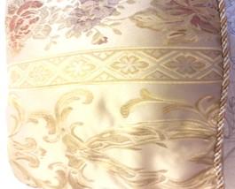 Decorative Pillow Set. Jaquard Fabric, Floral Design, Rope Bias on the B... - $18.99