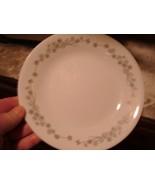 "Corelle Ribbon Bouquet 6 3/4""  Dessert Plates White Gray Flowers Set of 4 - $20.00"