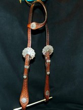 Cowperson Tack Sterling Silver on Iron Show Western Vaquero Headstall Br... - $279.00