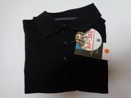 Edwards Luxury Performance Polo Shirt Black NWT Sz M Antimicrobial Fabric Shield - $10.88