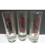 Jose Cuervo Tequila Tall Shooter Glasses SET OF THREE - $17.99