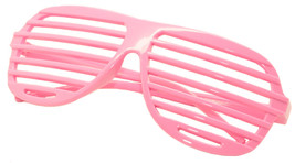 Large Size Neon Party Rave EDM EDC Eyewear Shades Adult Glasses Frame Pink - $5.93