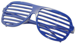 Large Size Neon Party Rave EDM EDC Eyewear Shades Adult Glasses Frame Blue - $5.93