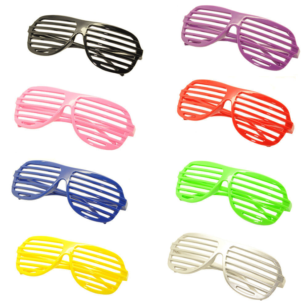 8PC Large Size Neon Party Rave EDM EDC Eyewear Shades Adult Glasses Frame Set2