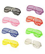 8PC Large Size Neon Party Rave EDM EDC Eyewear Shades Adult Glasses Fram... - $19.30