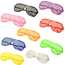 9PC Large Size Neon Party Rave EDM EDC Eyewear Shades Adult Glasses Fram... - $19.79