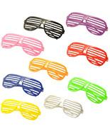 9PC Large Size Neon Party Rave EDM EDC Eyewear Shades Adult Glasses Fram... - $19.79