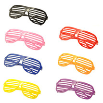 7PC Large Size Neon Party Rave EDM EDC Eyewear Shades Adult Glasses Fram... - $18.80