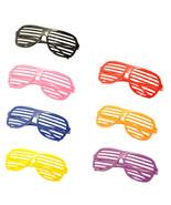 7PC Large Size Neon Party Rave EDM EDC Eyewear Shades Adult Glasses Fram... - $18.80