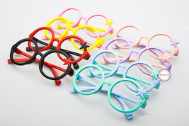 Nerd Classic Retro Round Wizard Style Glass Frame Fun Stars Eyewear for ... - $5.99