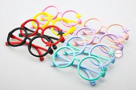 Nerd Classic Retro Round Wizard Style Glass Frame Fun Stars Eyewear for Kids - $5.99