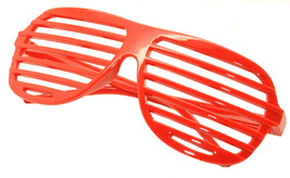 Large Size Neon Party Rave EDM EDC Eyewear Shades Adult Glasses Frame Red - $5.93