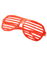 Large Size Neon Party Rave EDM EDC Eyewear Shades Adult Glasses Frame Red - $5.93