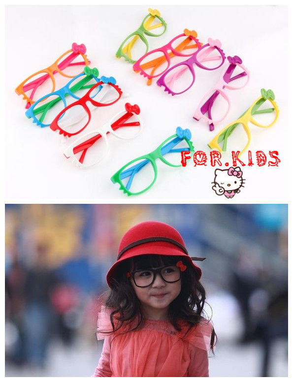 Kid Toy Costume Lovely Cute Fashion Whisker Bow Tie Glass Frame Eyewear No Lens
