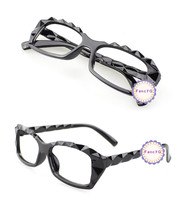 Black Retro Classic Diamond Cut Fashion Glasses Frame Unisex Eyewear No ... - $6.92