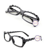 Black Retro Classic Diamond Cut Fashion Glasses Frame Unisex Eyewear No ... - $6.92