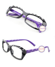 Purple Retro Classic Diamond Cut Fashion Glasses Frame Unisex Eyewear No... - $6.92