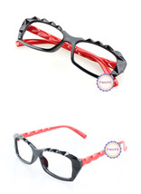Black Red Retro Classic Diamond Cut Fashion Glasses Frame Unisex Eyewear... - $6.92