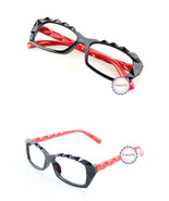 Black Red Retro Classic Diamond Cut Fashion Glasses Frame Unisex Eyewear... - $6.92