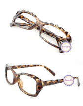 Leopard Retro Classic Diamond Cut Fashion Glasses Frame Unisex Eyewear N... - $6.92