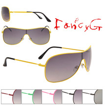 12 Assorted Fashion Sunglasses Unisex Classic Single Lens UV 400 Protection - $49.49