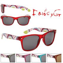 12 Assorted Unisex Fashion Sunglasses Fun Patterns UV 400 Protection - $49.49