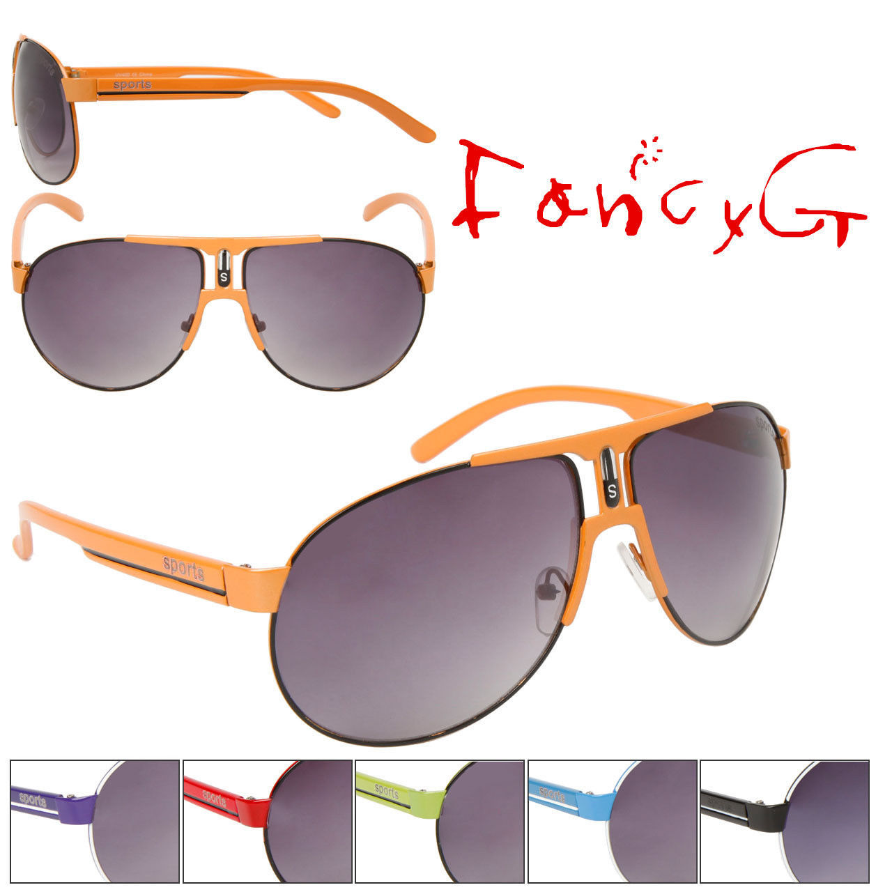 12 Assorted Unisex Fashion Sunglasses Fashion Sporty Style UV 400 Protection image 1