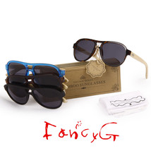 12 Assorted Luxury Style Bamboo Wood Fashion Sunglasses UV 400 Protection - $98.99
