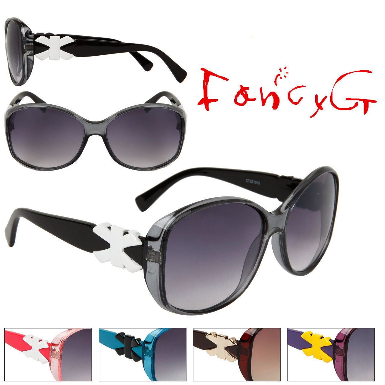 12 Assorted Unisex Fashion Sunglasses Stylish Bow UV 400 Protection