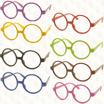 Vintage Retro Geek Nerd Style Round Shape Glass Frame NO LENS Costume Cosplay - $5.99