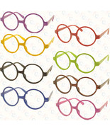 Vintage Retro Geek Nerd Style Round Shape Glass Frame NO LENS Costume Co... - $5.99