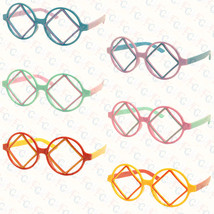 Cute Lovely Retro Classic Round Square Shape Cool Glass Frame Kids 3-12 NO LENS image 1