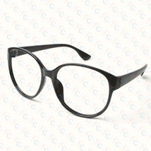 New Large Size Vintage Retro Nerd Oval Round Glass Frame Eyewear NO LENS Costume - $6.99